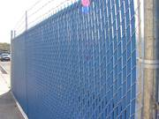 Chain Link Fence with Slats for Privacy Protection &  Sound Barrier