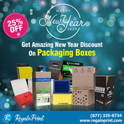 Get Amazing 25% New Year Discount On Packaging Boxes - RegaloPrint