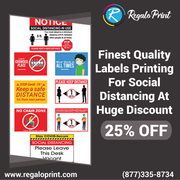 Don't Miss! Labor Day 25% Discount On 6 Feet Social Distancing Labels